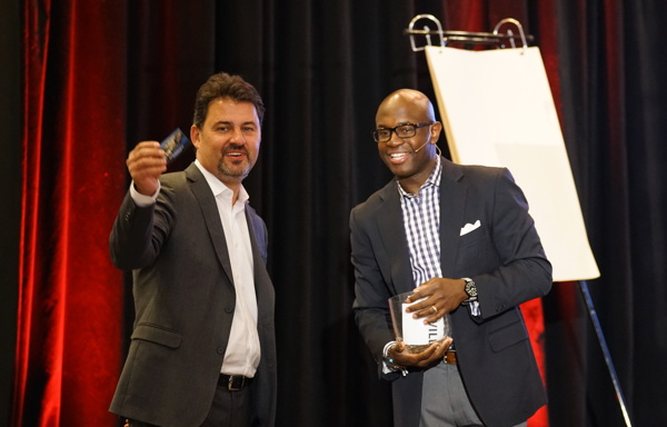 Frank Pitsikalis, Founder and CEO of ResortSuite (Left) and Keynote Speaker Dr. Bryan K. Williams (Right)