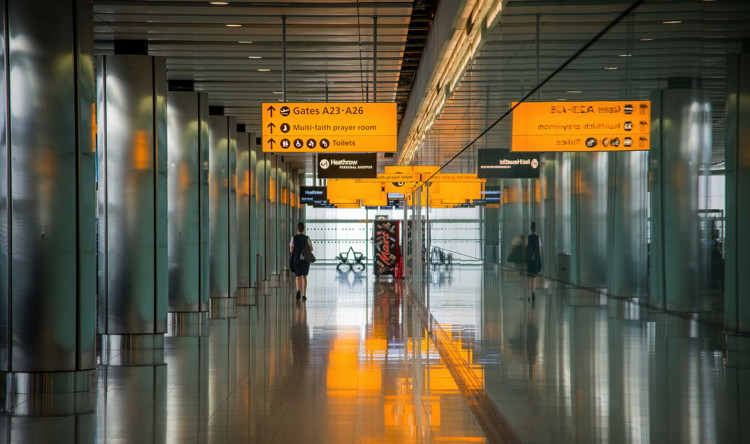 Departure gates at Heathrow airport - Unsplash
