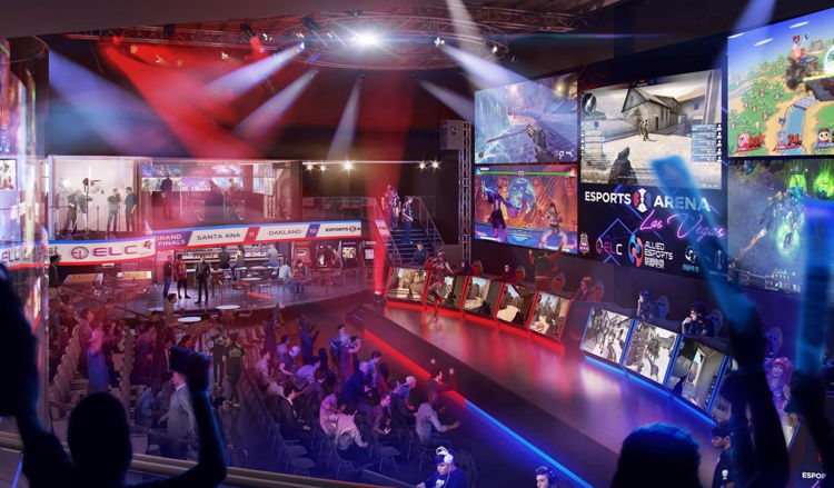 Renderings of the new Esports Arena Las Vegas at Luxor Hotel and Casino