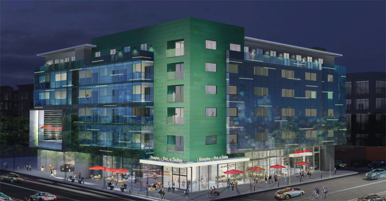 Rendering of the Hampton by Hilton Santa Monica