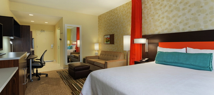 A Home2 Suites by Hilton guest suite