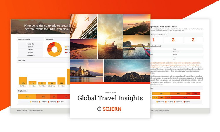 Collage from Global Travel Insights Report