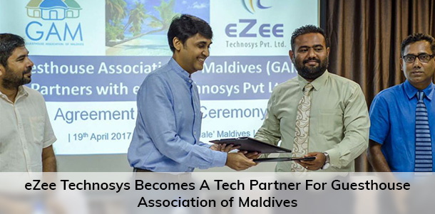 Image from eZee Technosys and Guesthouse Association Of Maldives signing ceremony