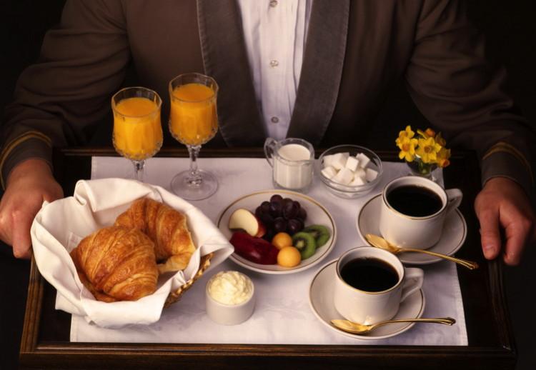 A Room Service Breakfast Tray