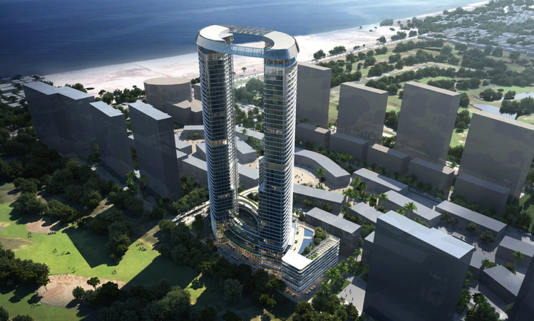 Rendering of the Viceroy Da Nang Vietnam Hotel
