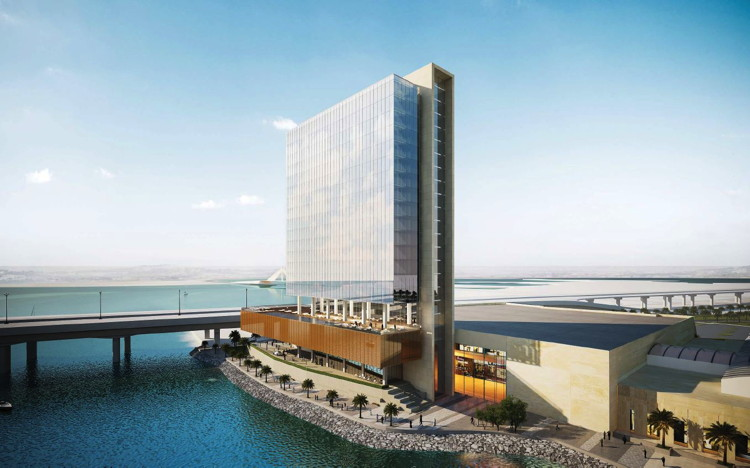 Rendering of the 210 room Hilton Bahrain Bay Hotel & Residences
