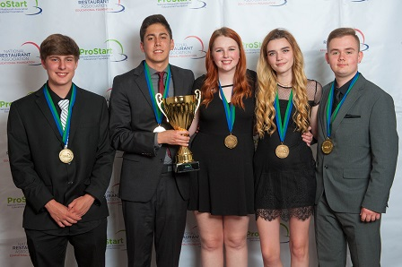 The team from Polaris Career Center in Middleburg Heights, Ohio, took top culinary honors at this year's National ProStart Invitational