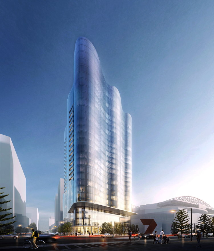 Rendering of the Hotel Indigo Melbourne Docklands