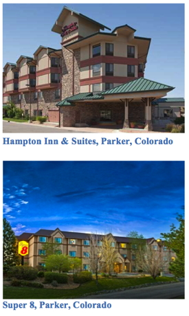 Hampton Inn & Suites and Super 8 Hotels in Parker, Colorado