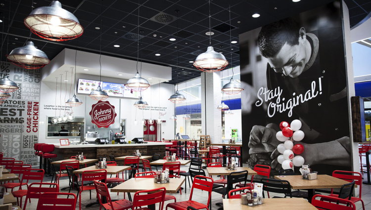 Johnny Rockets Restaurant in Lonato del Garda, Italy