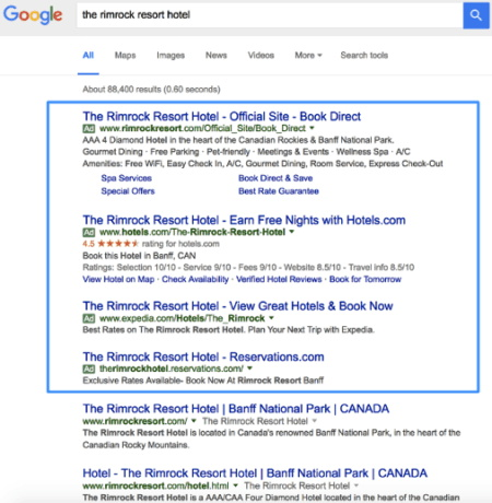 Screenshot - Google search result
