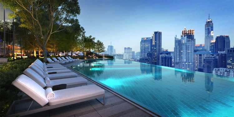 Rooftop swimming pool at Park Hyatt Bangkok