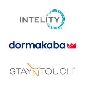 dormakaba, Intelity, StayNTouch logos