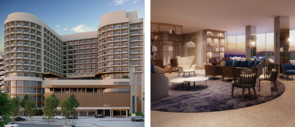 Rendering of the Fairmont Copacabana Hotel