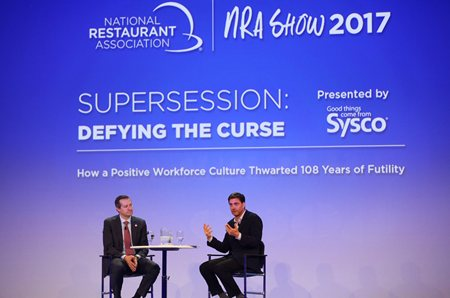 Tom Ricketts and Mike Greenberg at NRA Show's Supersession (photo credit: Tori Soper Photography)