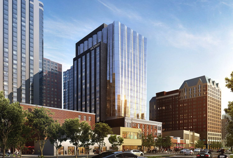 Rendering of the Viceroy Chicago Hotel