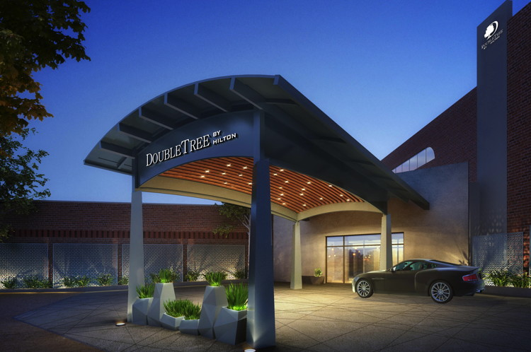 Rendering of the DoubleTree by Hilton Atlanta Perimeter Dunwoody Porte Cochere