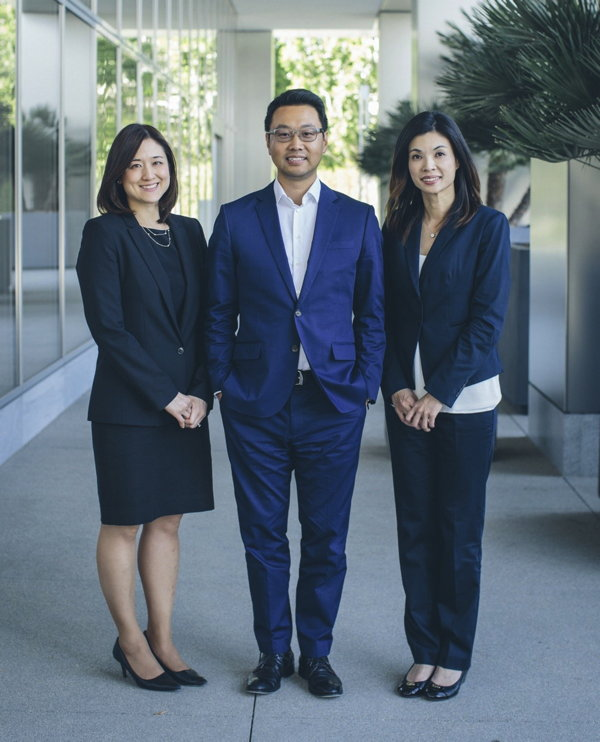 Interstate Hotels & Resorts' Asia Investment Group: Jackie Lee, Don Li, and Tina Chang.