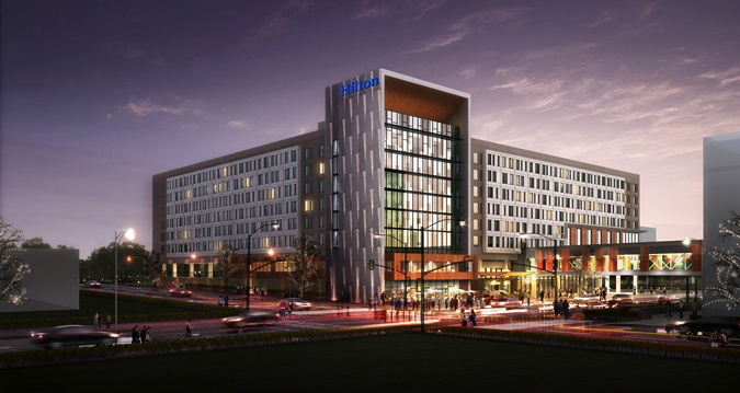 Hilton Des Moines Downtown Hotel Celebrates Topping Out