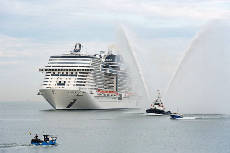 MSC Meraviglia arrives in Le Havre, France