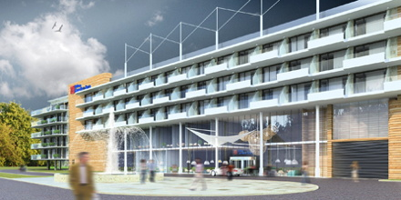 Rendering of the Hilton Garden Inn Kolobrzeg