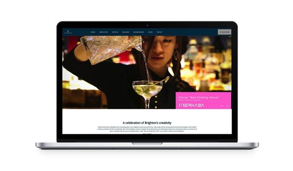 Screenshot My Brighton Hotel website