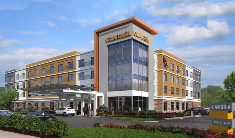 Rendering of the Cambria Hotel Newport
