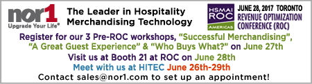 Promotional image for Nor1 Workshops at HSMAI ROC 2017 In Toronto, Canada