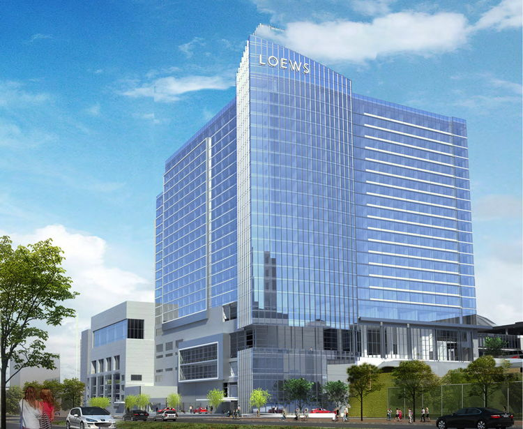 Rendering of the Loews Kansas City Convention Center Hotel