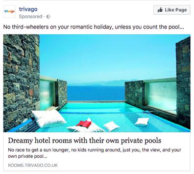 Trivago Facebook ad