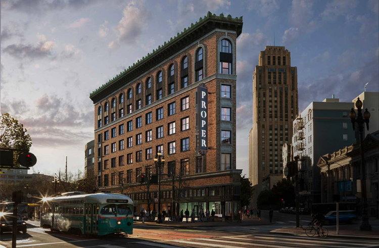 Rendering of the San Francisco Proper Hotel
