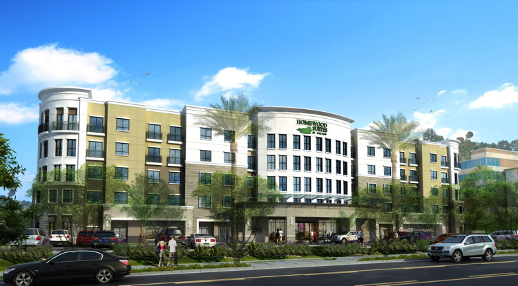 Rendering of the Homewood Suites by Hilton San Diego Hotel Circle/SeaWorld Area