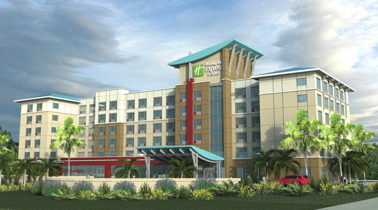 Rendering of the Holiday Inn Express and Suites Orlando at SeaWorld