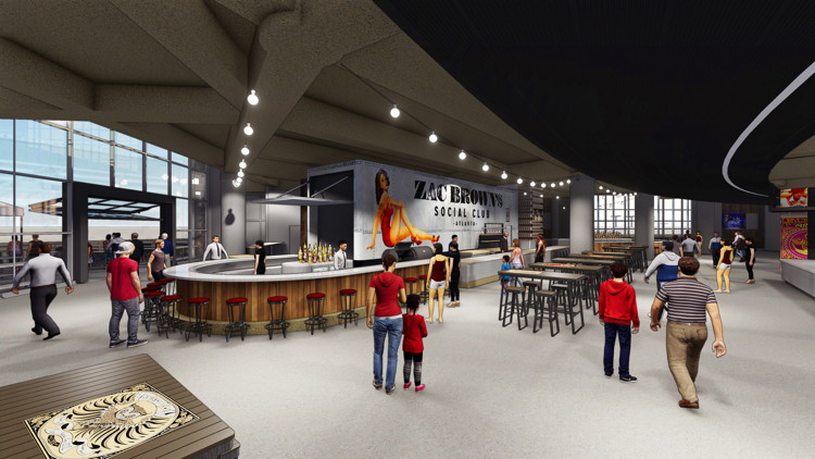 Rendering of Zac Brown's Social Club inside Philips Arena