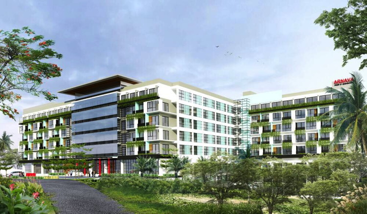 Rendering of the Arnava Hotel & Residence, Batu