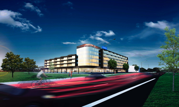 Rendering of the Mantra Epping Hotel, Melbourne