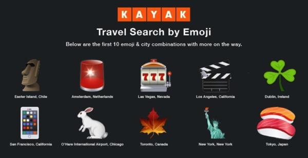 Travel Search Emoji from KAYAK