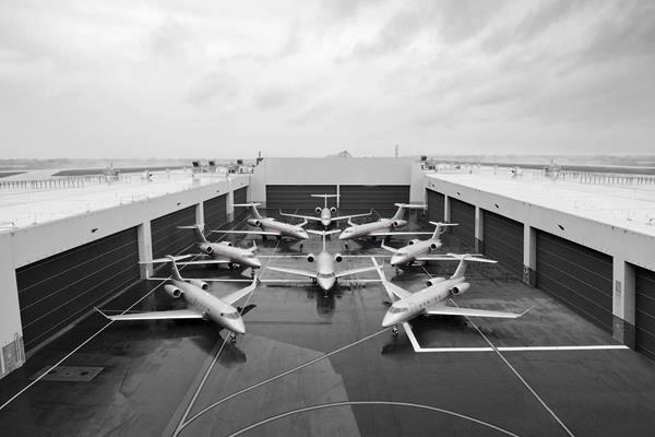 Various VistaJet airplanes
