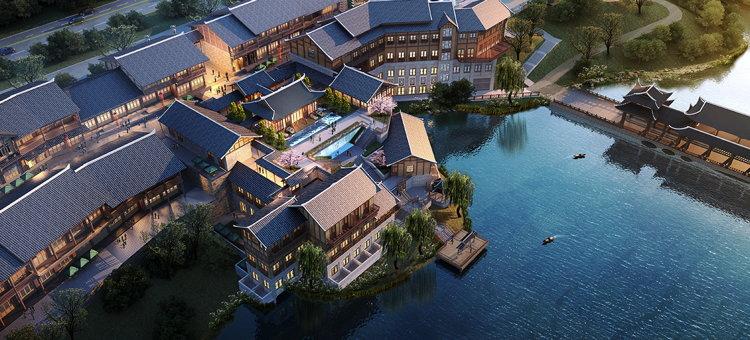 Wanda Jin Danzhai Hotel - Aerial view