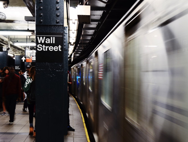 Wall Street Subway Platform