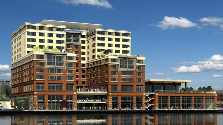 Rendering of the Hyatt Regency Lake Washington at Seattle's Southport