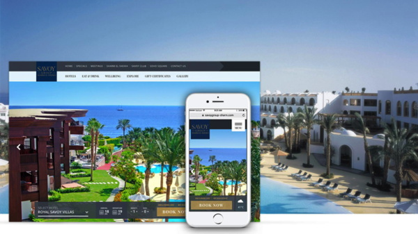 Savoy Group - Sharm El Sheikh - Screenshot web site