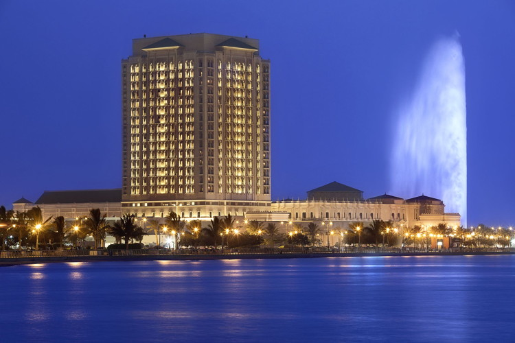 The Ritz-Carlton, Jeddah- Exterior at night