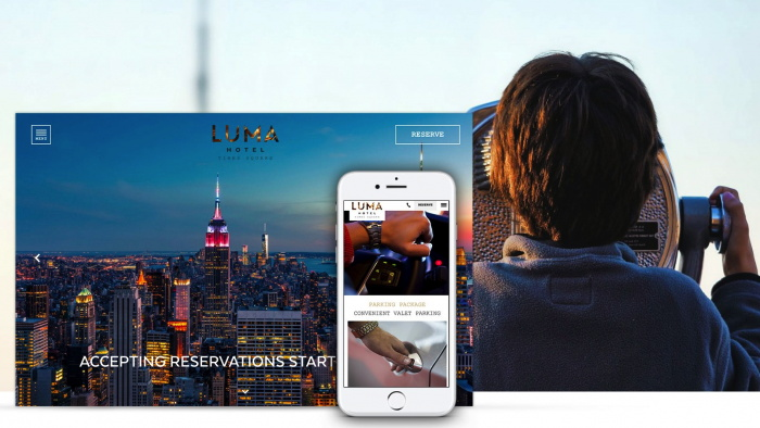 Screenshot LUMA Hotel Times Square Website