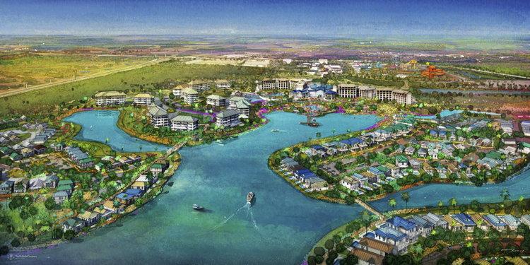 Aerial rendering of the Margaritaville Resort Orlando