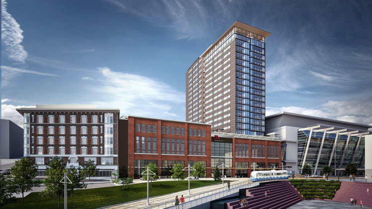 Rendering of the Marriott Seattle Tacoma