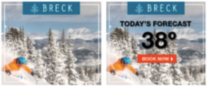 Dynamic weather ad for Breckenridge