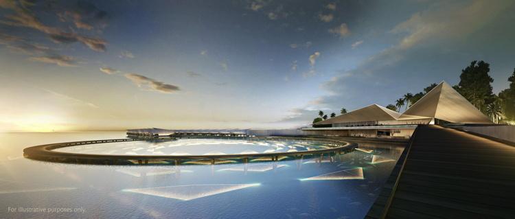 Rendering of the Singha Estate's Emboodhoo Lagoon project