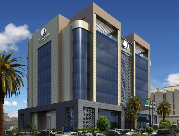 Rendering of the Hilton Jeddah Al Salamah District Hotel