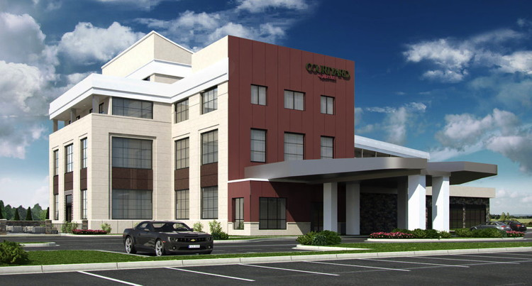 Rendering of the Courtyard by Marriott Niagara Falls, USA